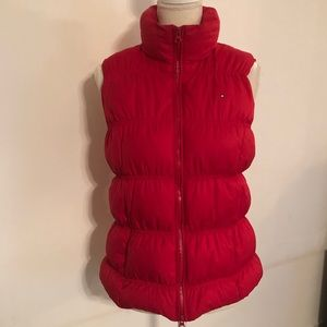 Tommy Hilfiger women's size L Red puffer Down vest